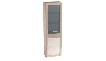 Гостинная-Лацио-Шкаф-со-стеклом-Дуб-Гладстоун-серый-камень