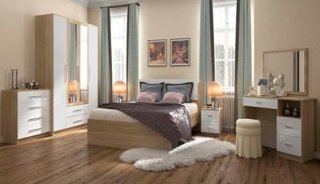 Бланка-спальня-4х-ств-Дуб-Сонома-Белый-глянец